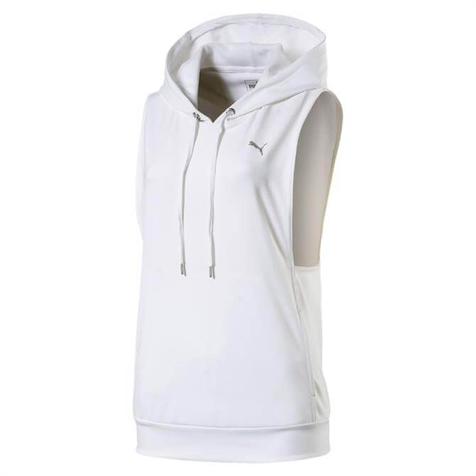 Puma Women's Clash Training Hoodie Vest- White