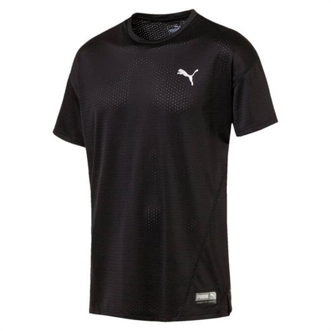 Puma Men's A.C.E Short Sleeve Fitness Top - Black