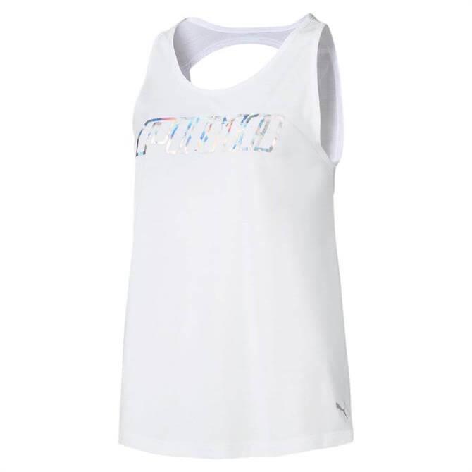 Puma Women's Own It Fitness Tank Top - Puma White