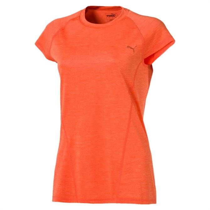 Puma Women's DeLite Short Sleeve Training T-Shirt - Nasturtium