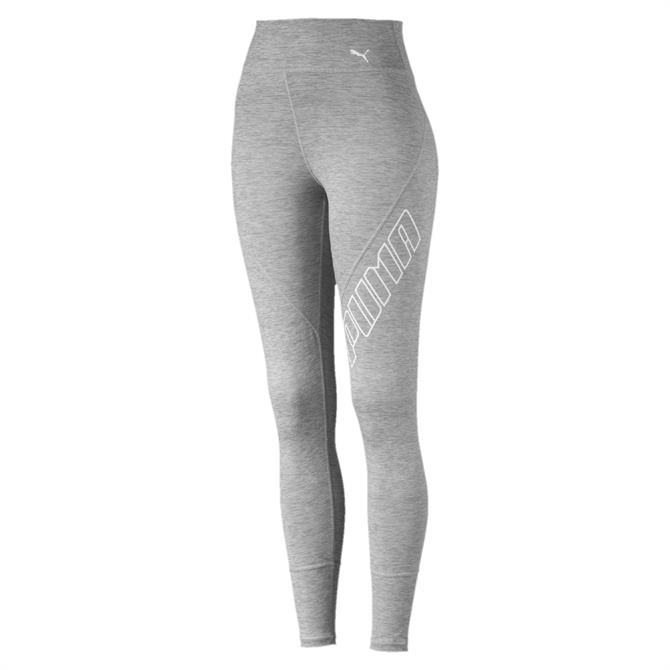 Puma Women's Yogini Logo Fitness Tights - Light Grey