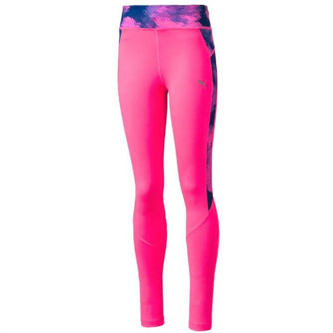 Puma Active Girl's AOP Tights- Pink