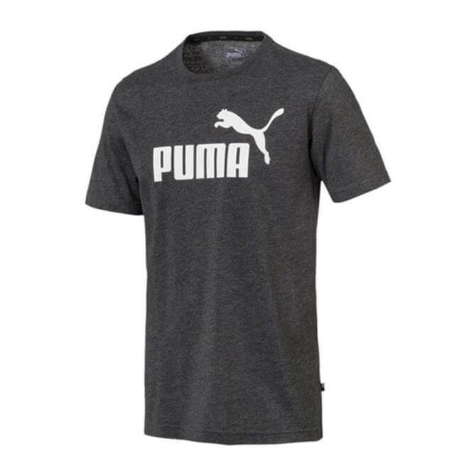 Puma Men's Essentials + Heathered Short Sleeve T-Shirt - Puma Black