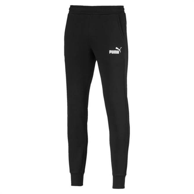 Puma Men's Essentials Knitted Fleece Tracksuit Bottoms- Puma Black