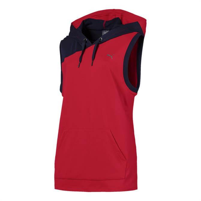 Puma Women's A.C.E Sleeveless Hoodie- Ribbon Red