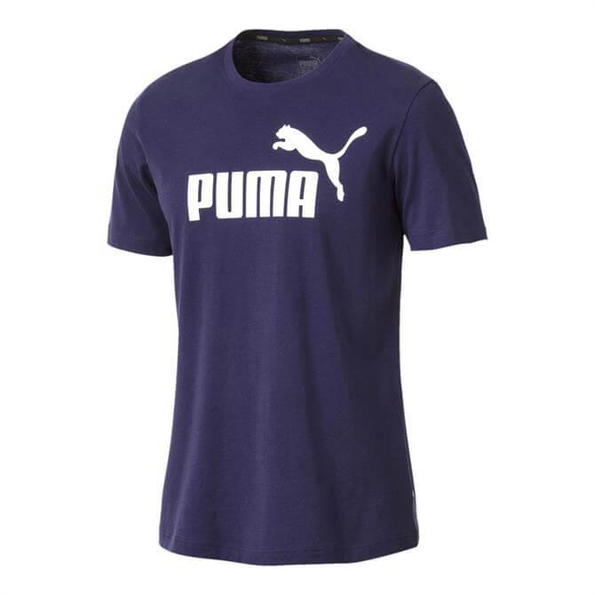Puma Men's Essentials Short Sleeve T-Shirt- Peacoat