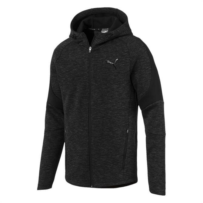 Puma Men's Evostripe Full Zip Hoody- Cotton Black
