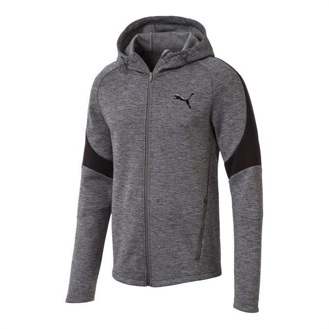 Puma Men's EvoStripe Full Zip Hoody- Grey Heather