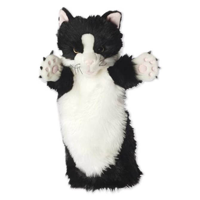 Puppet Company Long Sleeved Black and White Cat Glove Puppet