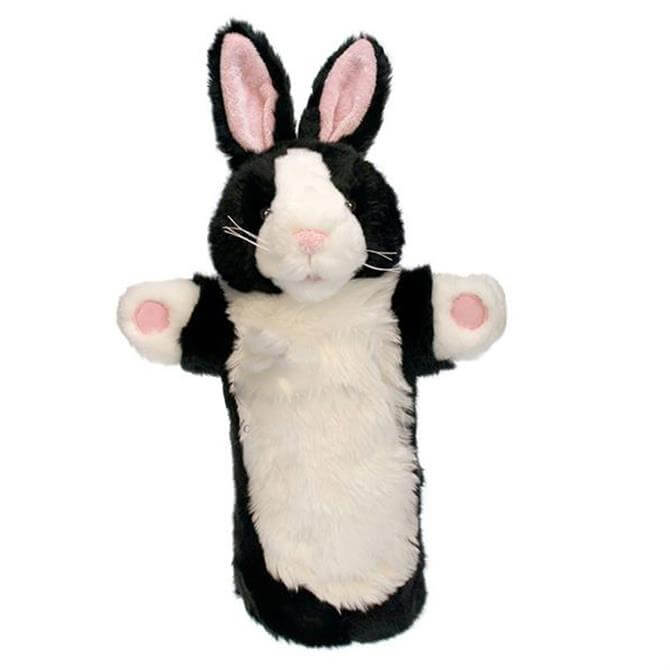 Puppet Company Long Sleeved Black and White Rabbit Glove Puppet