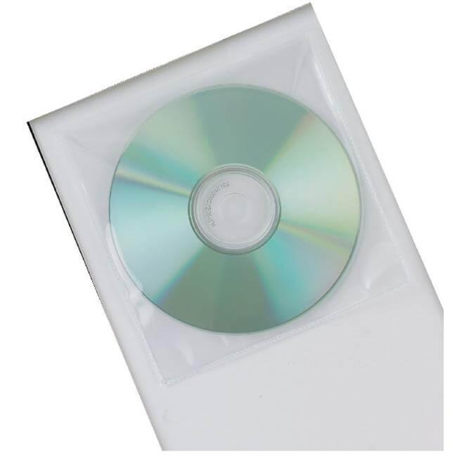 Q-Connect Plastic CD Holder - 50 Pack