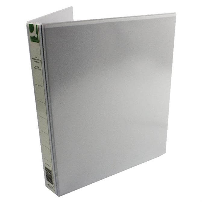 Q-Connect White Presentation 4-Ring Binder 25mm
