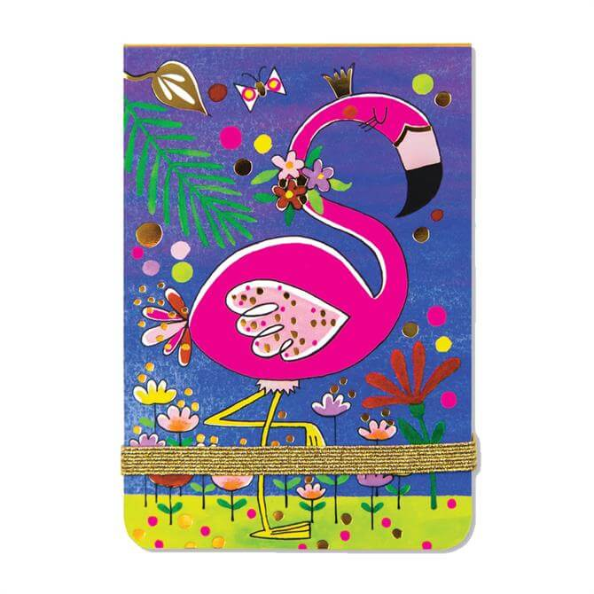 Rachel Ellen Flamingo A7 Mini Notepad