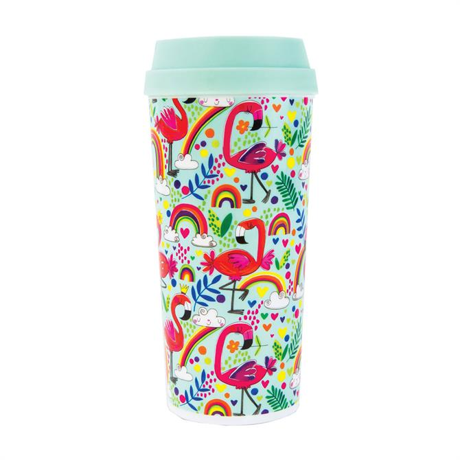 Rachel Ellen Flamingo Thermal Travel Mug