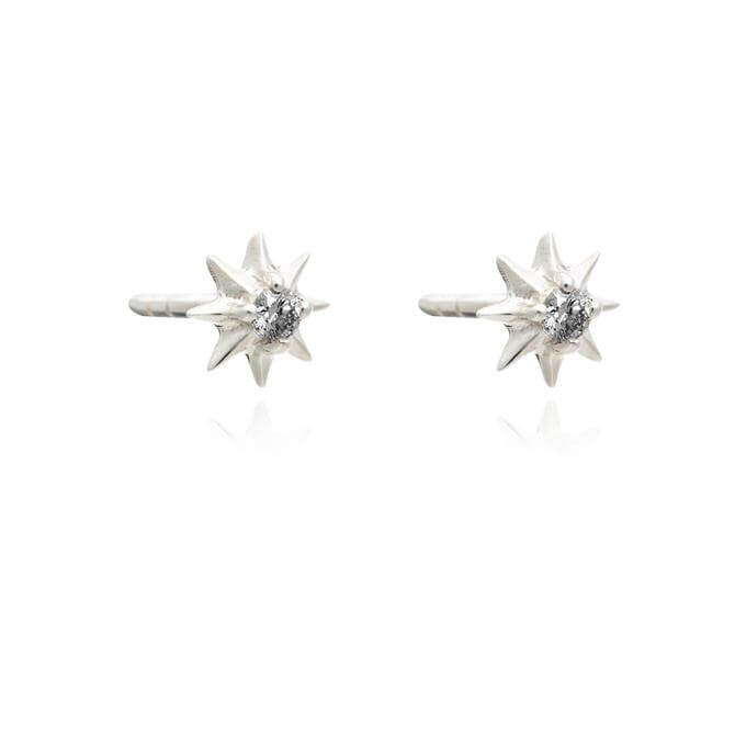 Rachel Jackson London Shooting Star Diamond Stud Earrings