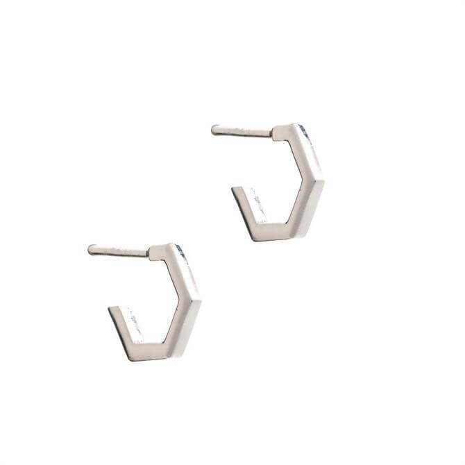 Rachel Jackson London Mini Hexagon Earrings