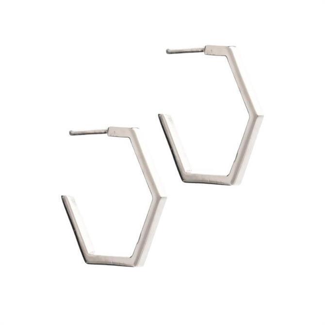 Rachel Jackson London Medium Hexagon Earrings