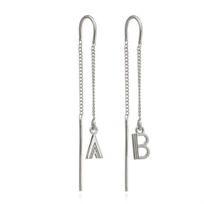 Rachel Jackson London Silver Initial Drop Earrings