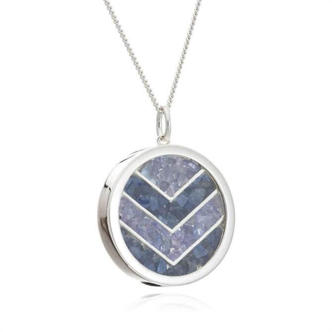 Rachel Jackson London Love Chevron Amulet Necklace