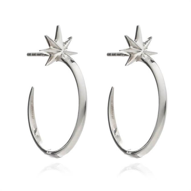 Rachel Jackson London Shooting Star Hoop Earrings