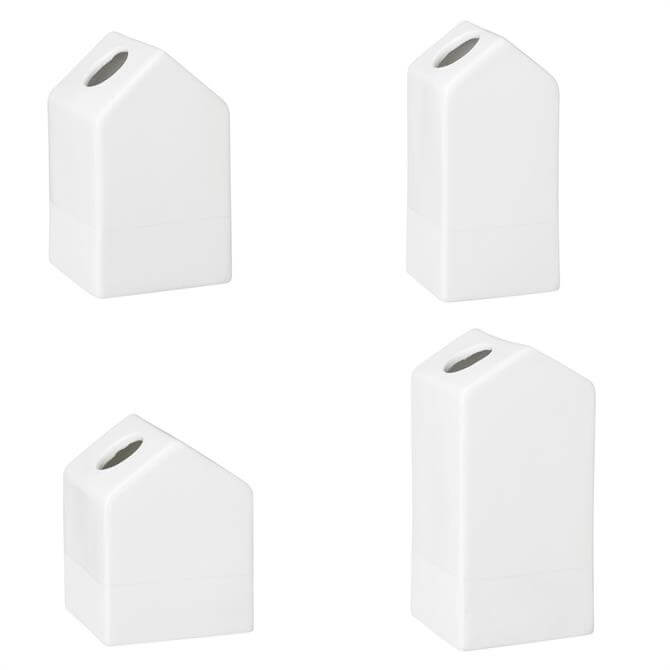 Rader Mini House Vases Set of 4