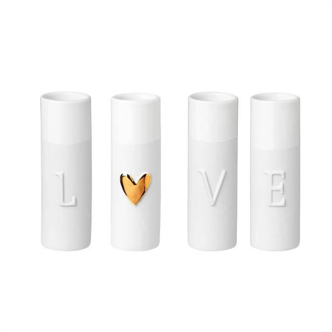 Rader 'Love' Mini Vases - Set of 4