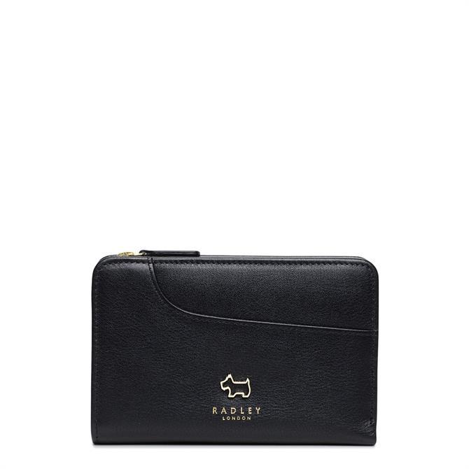 Radley London Black Pockets Medium Zip Top Purse