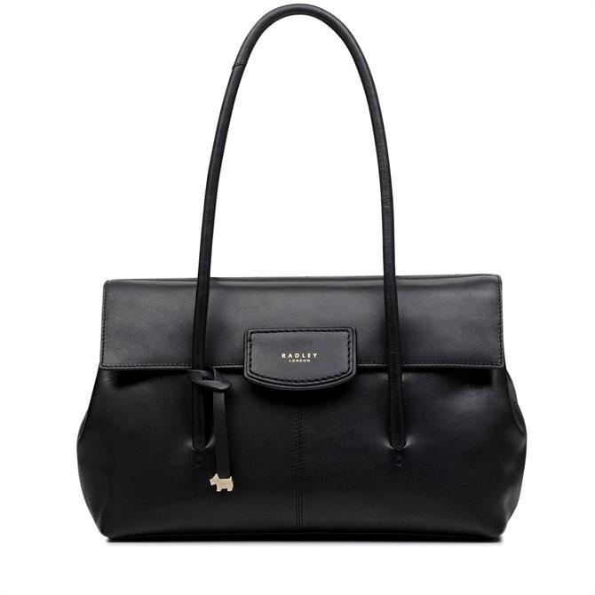 Radley Burnham Beeches Black Large Flapover Shoulder Bag