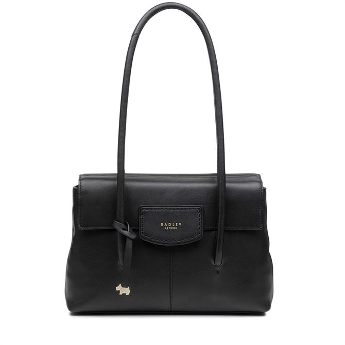 Radley Burnham Beeches Black Medium Flapover Shoulder Bag