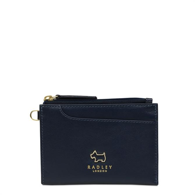 Radley Ink Blue Pockets Small Zip Top Coin Purse