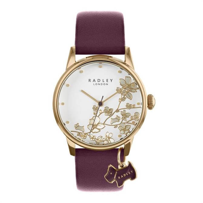 Radley Linear Flower Purple Watch