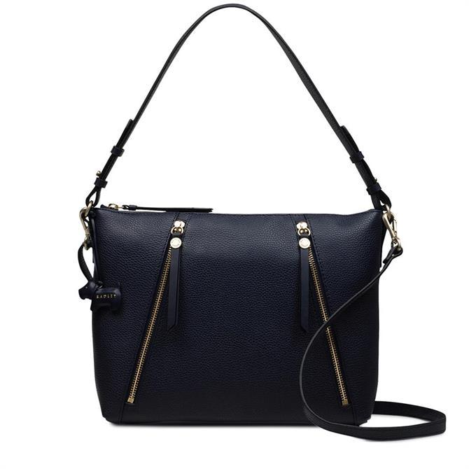 Radley Ink Blue Fountain Road Zip Top Shoulder Bag