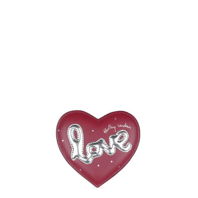 Radley Claret Love is in the Air Pocket Mirror