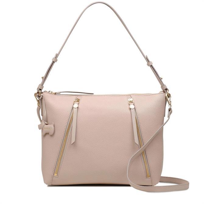 Radley Dove Grey Fountain Road Zip Top Shoulder Bag