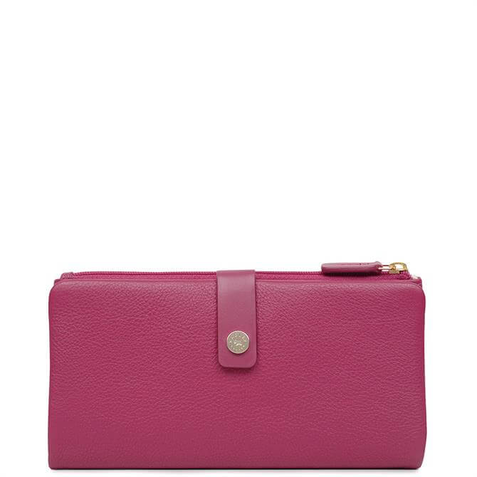 Radley Larkswood Raspberry Large Bifold Matinee Purse