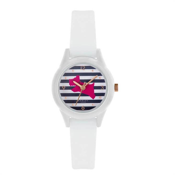 Radley Watch It! White Watch with Striped Dial