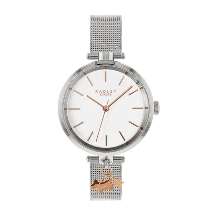 Radley Silver St Dunstan's Watch with Mesh Strap