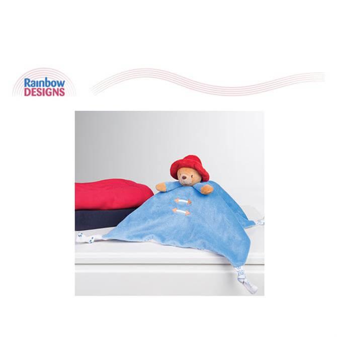 Rainbow Paddington Bear Comfort Blanket