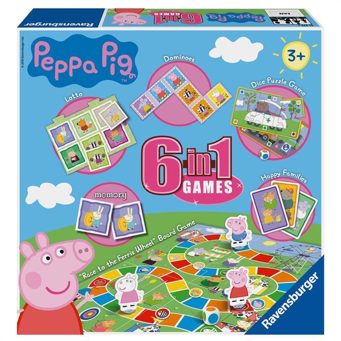 Ravensburger Peppa Pig 6 in 1 Games
