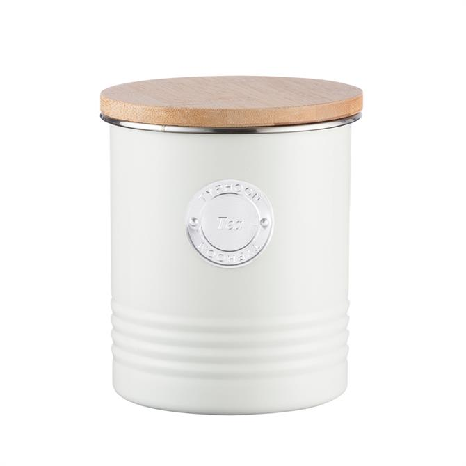 Typhoon Living Collection 1 Litre Storage Cannister Tea/Coffee/Sugar: Cream