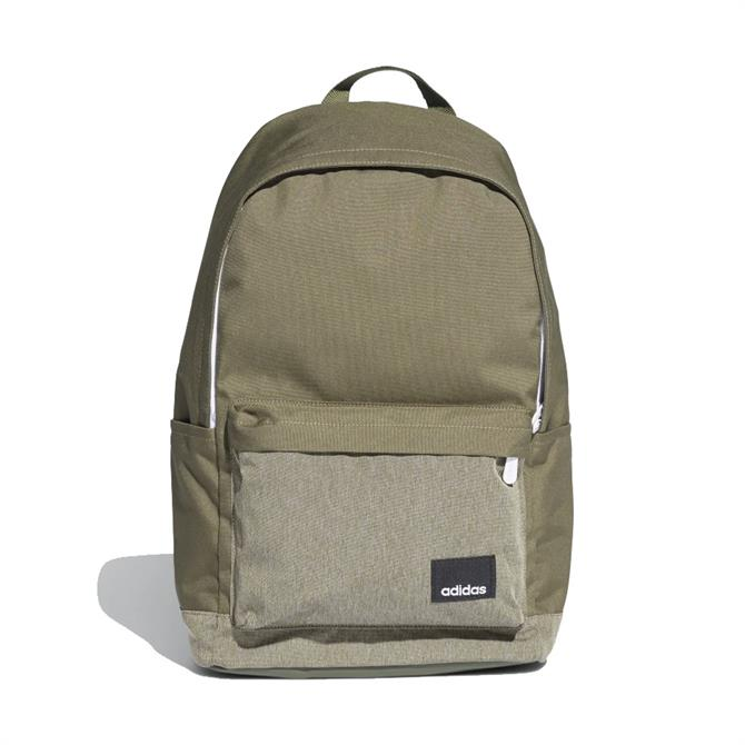 Adidas Linear Classic Casual Sports Backpack - Raw Khaki Green/White
