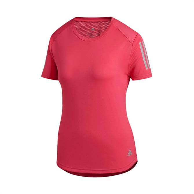 Adidas Women's Own the Run Short Sleeve T-Shirt - Shock Red
