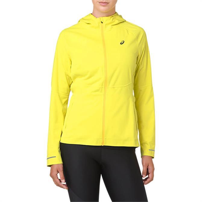 Asics Women's Accelerate Running Jacket - Lemon Spark