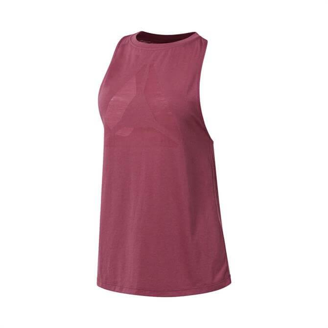 Reebok Women's Burnout Sleeveless T-Shirt- Twiber