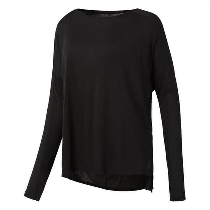 Reebok Women's Training Supply Long Sleeve T-Shirt- Black