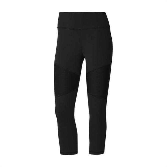 Reebok Women's Cardio Lux 3/4 FItness Tights - Black