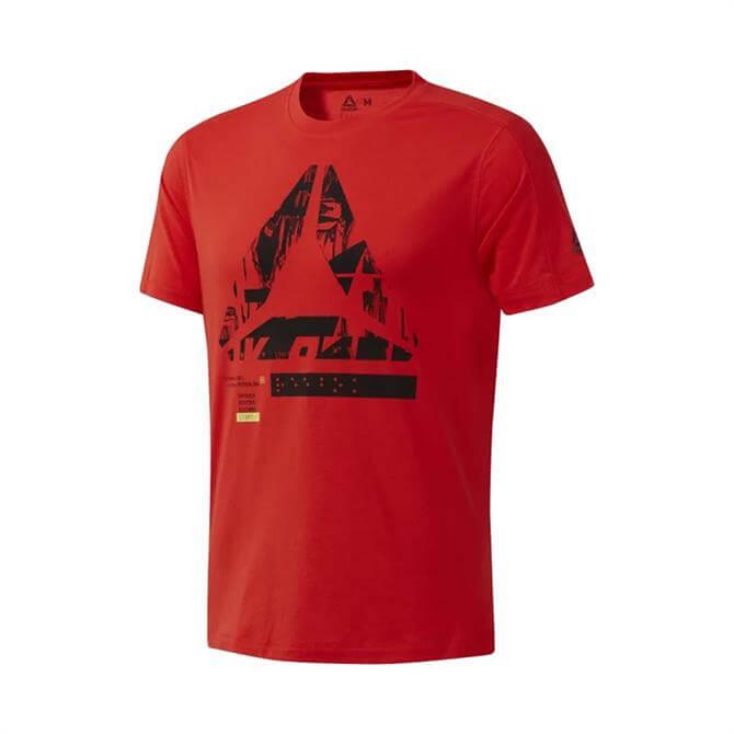Reebok Men's OST SpeedWick Move Short Sleeve T-Shirt - Canton Red