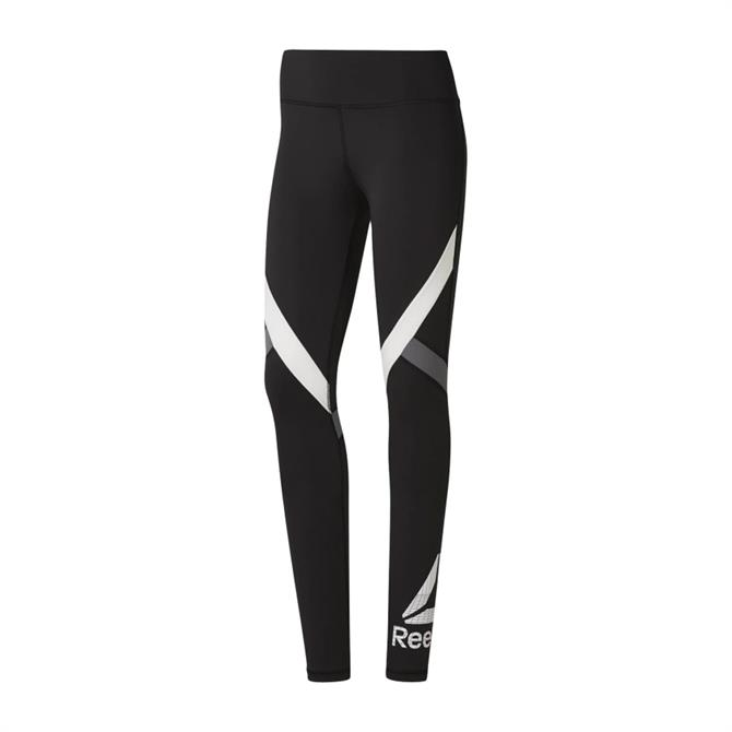 Reebok Women's WOR Big Delta Fitness Tights - Black