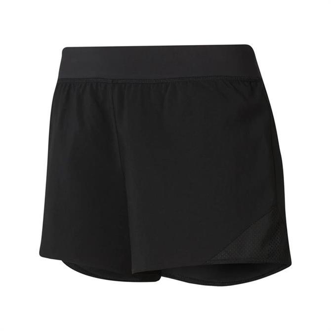 Reebok Women's WOR Knit Woven Fitness Shorts - Black