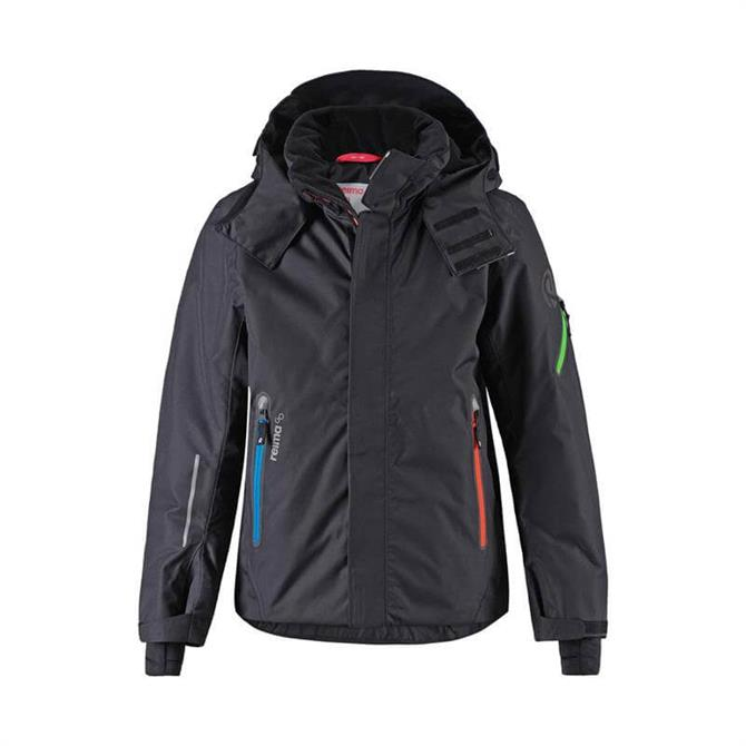 Reima Kid's Wheeler Winter Ski Jacket- Black